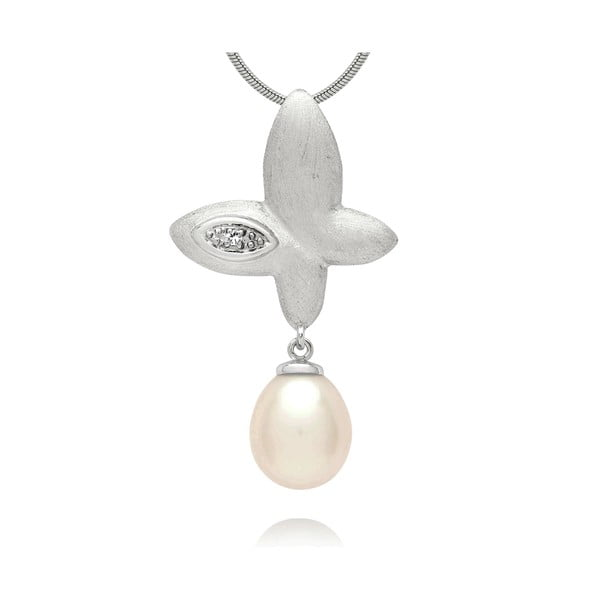 Prívesok Pure Pearls Silver Diamond Freedom