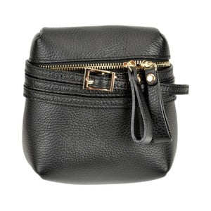 Čierna kožená kabelka Renata Corsi Daluda