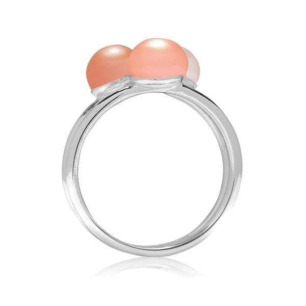 Prsteň Pure Pearls Peach, veľ. 52