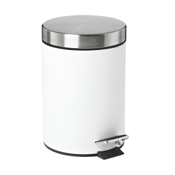 Odpadkový kôš s pedálom Confetti, biely