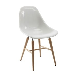 Sada 4 bielych jedálenských stoličiek Kare Design Forum Wood