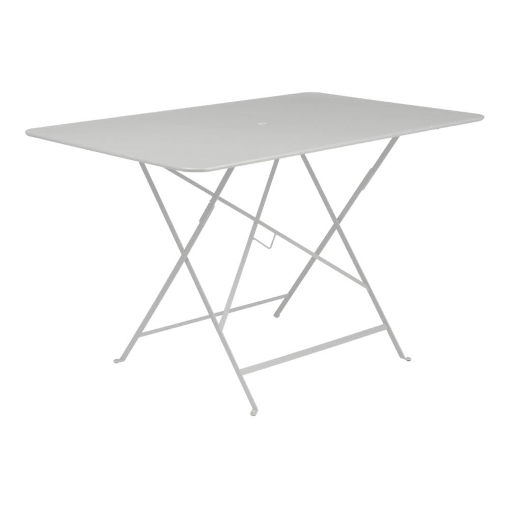 Svetlosivý skladací záhradný stolík Fermob Bistro, 117 × 77 cm
