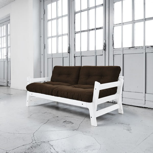 Rozkladacia pohovka Karup Step White/Choco Brown