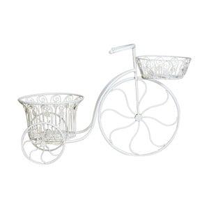 Biely železný stojan na kvetiny Crido Consulting Bicycle