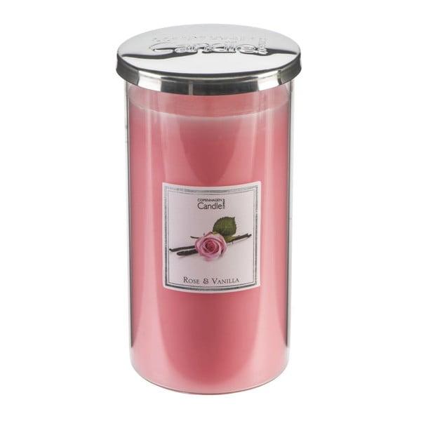 Aroma sviečka Rose & Vanilla Talll, doba horenia 70 hodín