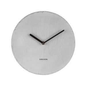 Sivé nástenné bridlicové hodiny Karlsson Slate, Ø25cm