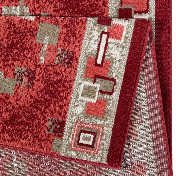Červený behúň Hanse Home Retro, 80×200 cm