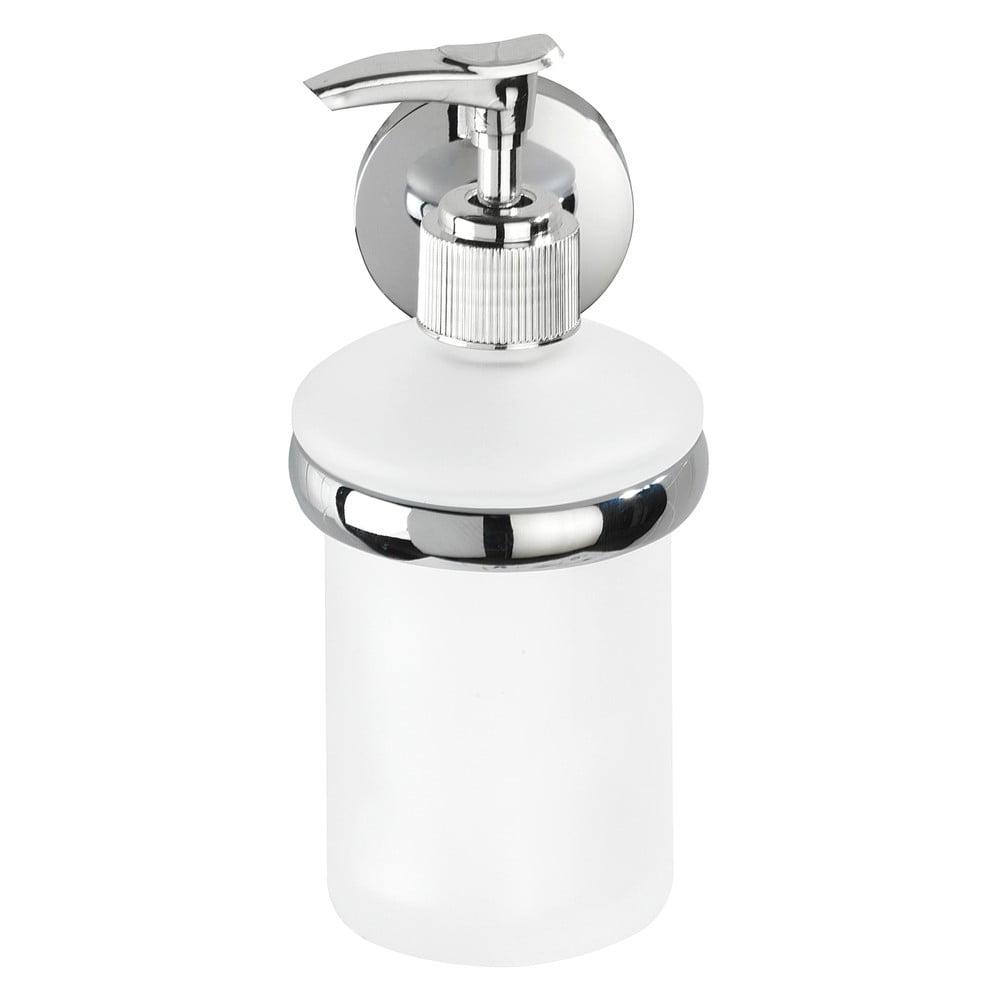 Biely nástenný antikoro dávkovač na mydlo s držiakom Wenko Cuba