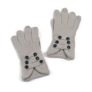 Sivé rukavice Iris
