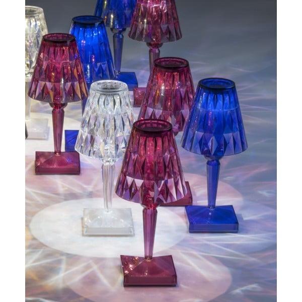 Ružová transparentná stolová lampa Kartell Battery
