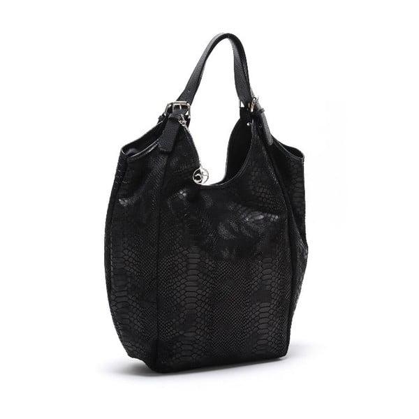 Kožená kabelka Fiopro, čierna
