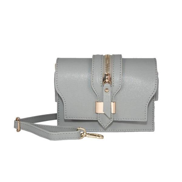 Kožená kabelka Andrea Cardone 2018 Silver Grey