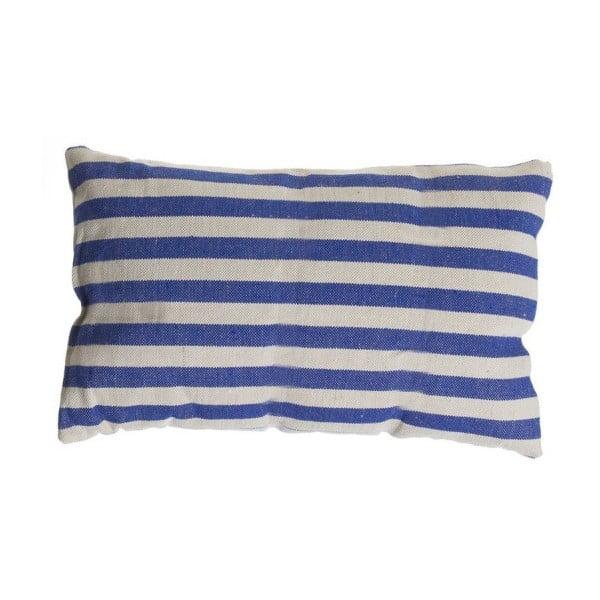Vankúšik Cosas de Casa Stripes, 30 x 50 cm, modrý