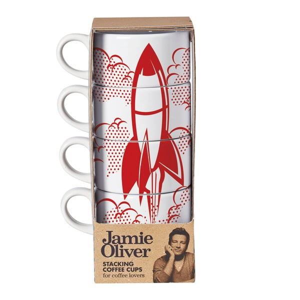 Sada 4 hrnčekov Jamie Oliver Rocket