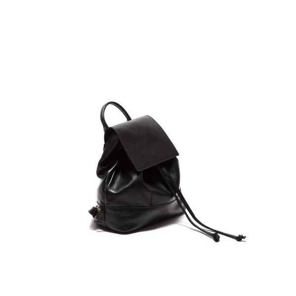 Čierny kožený batoh Sofia Cardoni Fredo
