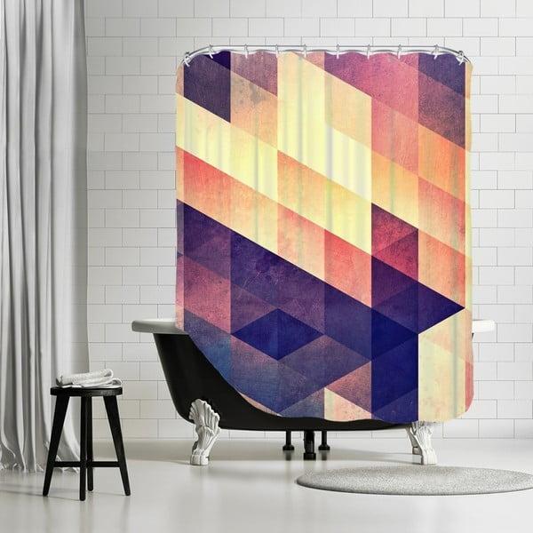 Kúpeľňový záves Purple Way, 180x180 cm