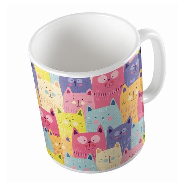 Keramický hrnček Cats In Colours, 330 ml