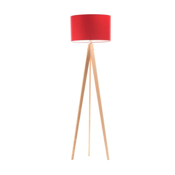 Stojacia lampa Artist Red/Birch, 150x42 cm