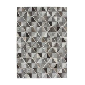 Kožený koberec Eclipse 80x150 cm, sivý