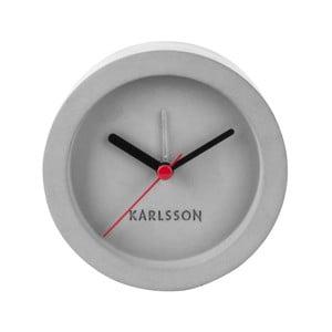 Sivé betónové stolové hodiny s budíkom Karlsson Tom