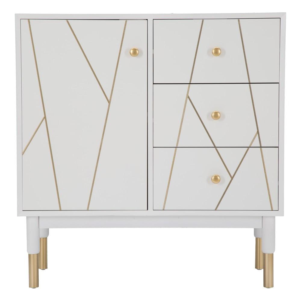 Biela skrinka Mauro Ferretti Luxy, šírka 80 cm