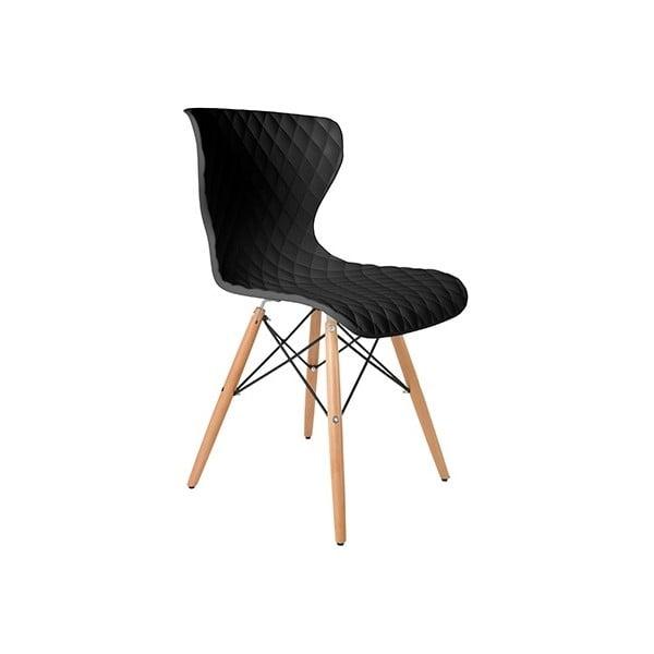 Čierna stolička Crow Beech