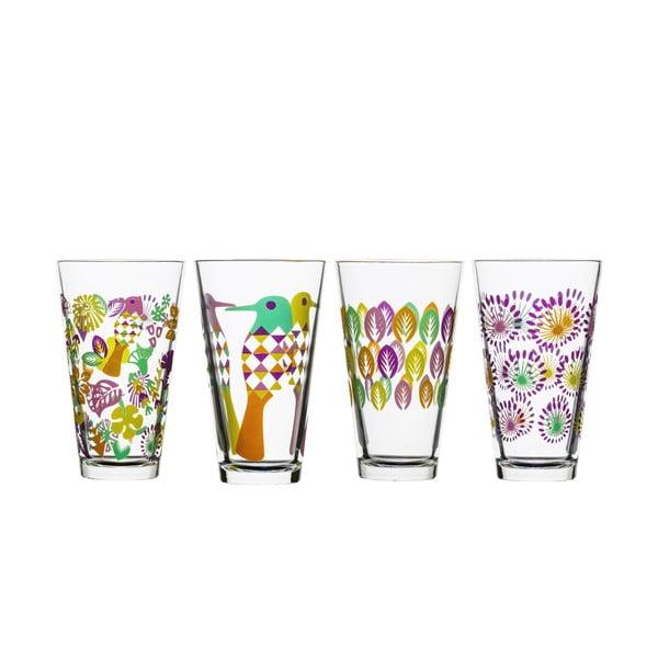Sada 4 pohárov Sagaform Fantasy 300ml, fialová