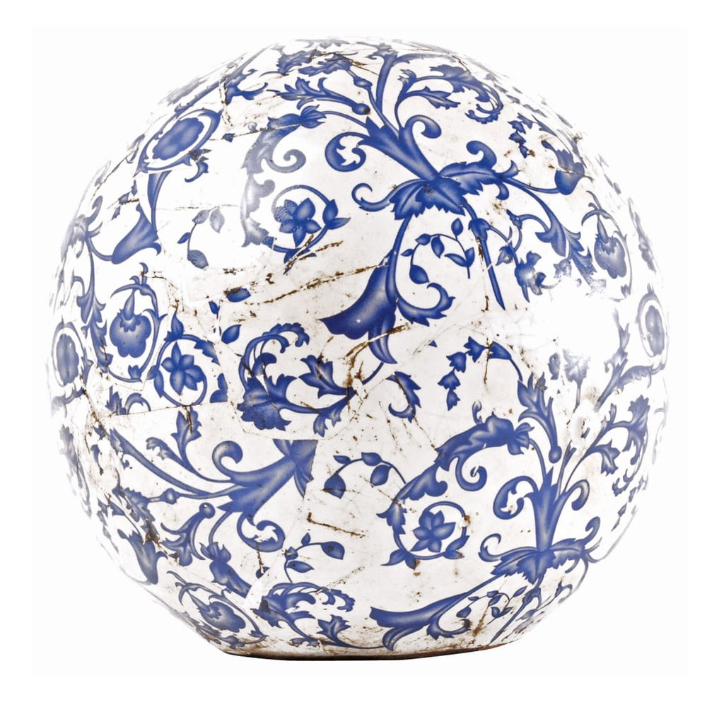 Modro-biela keramická dekorácia Ego Dekor, ⌀ 18 cm