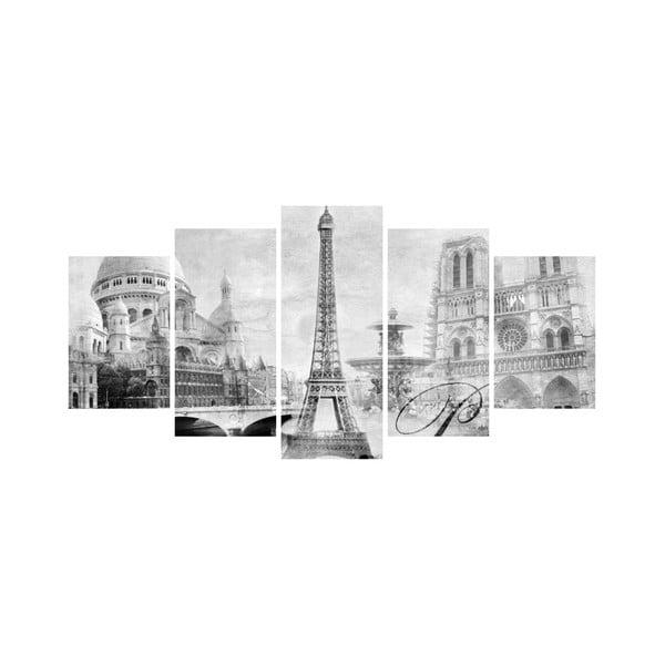 Viacdielny obraz Black&White no. 67, 100x50 cm