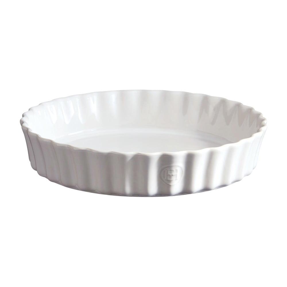 Biela koláčová forma Emile Henry, ⌀ 24 cm