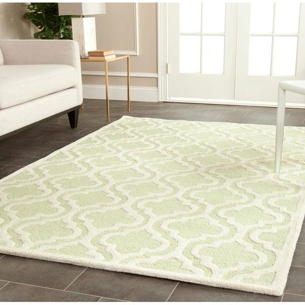 Vlnený koberec Lola 152x243 cm, zelenkavý