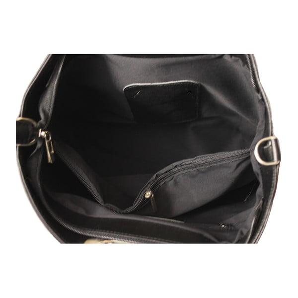 Čierna kožená kabelka Gia