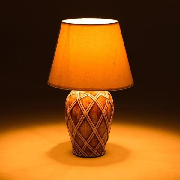Keramická stolová lampa Brown