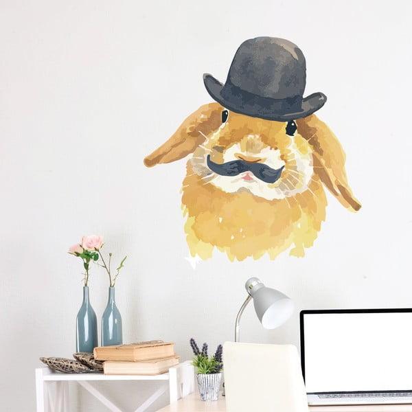 Samolepka na stenu Bunny, 70x50 cm