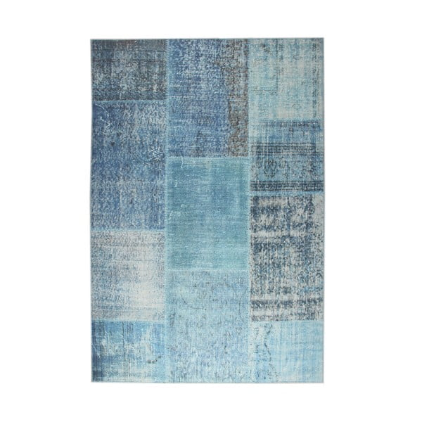 Modrý koberec EkoRugs Oina, 75x300cm