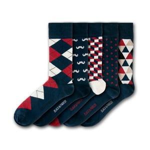 Sada 5 ponožiek Black&Parker London Holbrook Garden, veľkosť 37 – 43