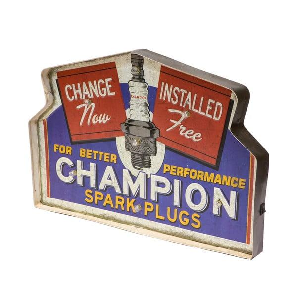 Ceduľa na stenu s LED svetlom Novita Champion