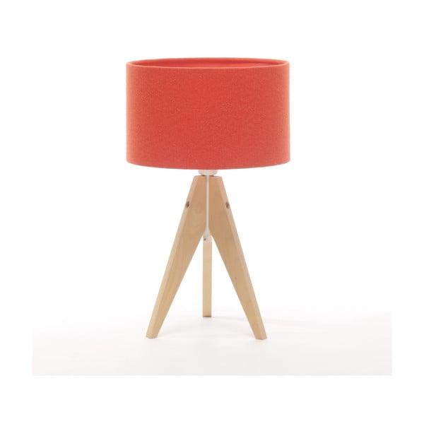 Stolná lampa Artista Natural Birch/Red Felt, 28 cm