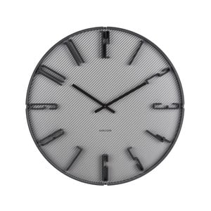 Sivé nástenné hodiny Karlsson Sentient, Ø40cm