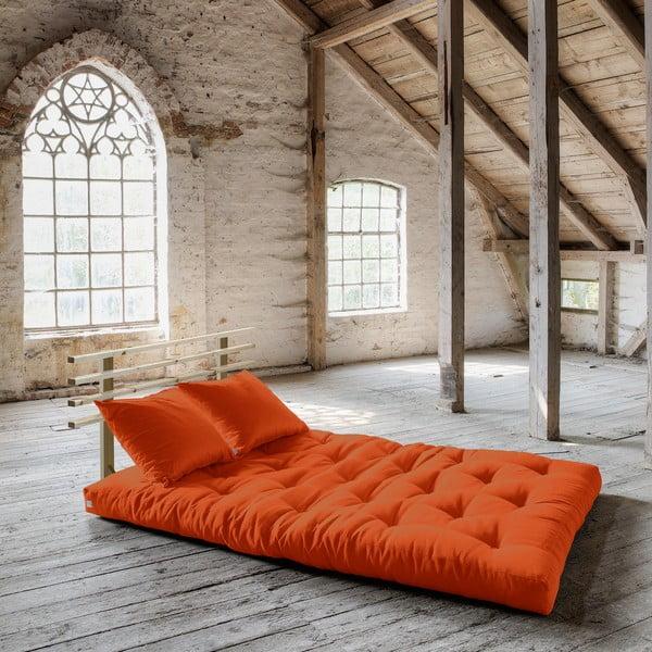 Rozkladacia pohovka Karup Shin Sano Natur/Orange