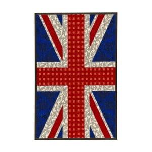 Vysokoodolný koberec Floorita Welcome Union Jack, 50 x 75 cm