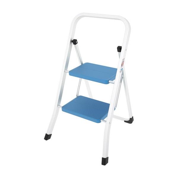 Modrý skladací rebrík Colombo New Scal Stabilo II