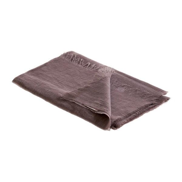 Ľanová šatka Luxor 65x200 cm, hnedosivá