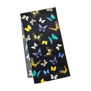 Šatka z hodvábneho saténu Von Lilienfeld Butterflies Dance
