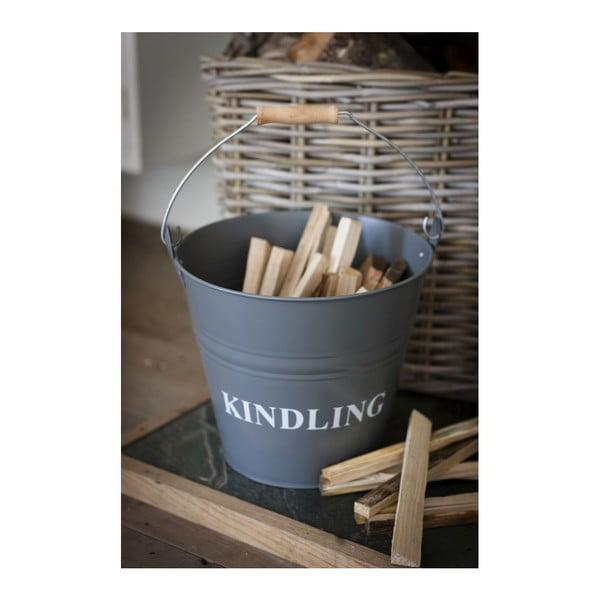 Vedro s vrchnákom na drevo Kindling