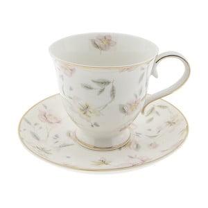 Porcelánový hrnček s tanierikom Clayre & Eef Anastasia, 220 ml