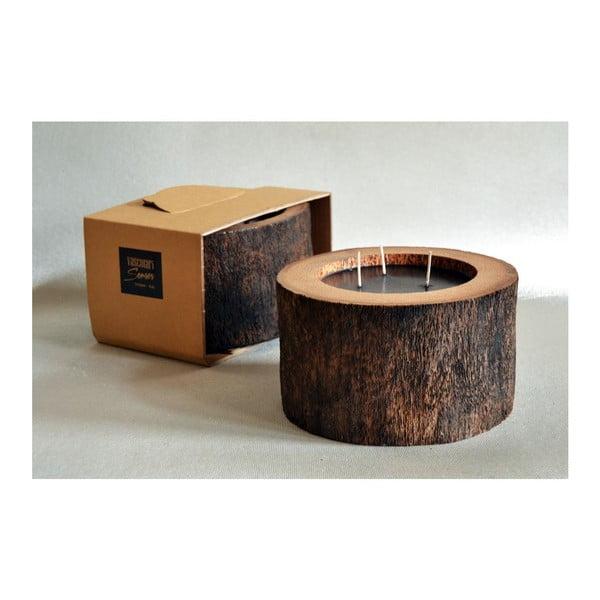 Palmová sviečka Legno Black s vôňou vodného kvetu, 100 hodín horenia
