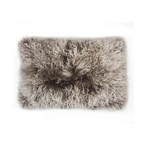 Kožušinový vankúš Tibetian Grey, 35x55 cm