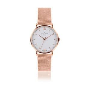 Unisex hodinky s antikoro remienkom v ružovozlatej farbe Frederic Graff Rose Dent Blanche Gold
