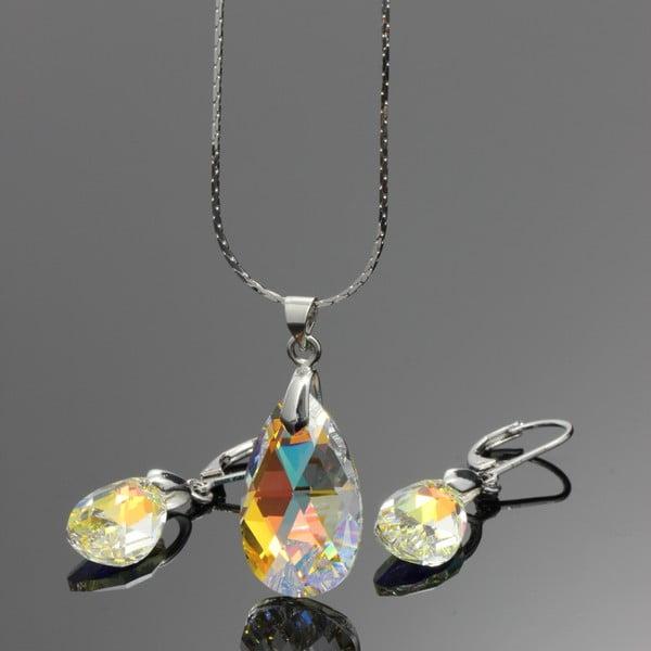 Set náhrdelníka a náušníc Yasmine Clear Crystal